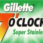 Lamette Gillette 7 OClock Super Stainless