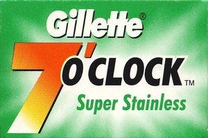 Lamette Gillette 7 OClock Super Stainless