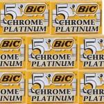 40 lamette bic chrome platinum