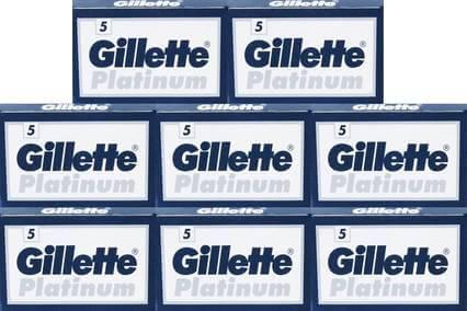 40 gillette platinum razor blades