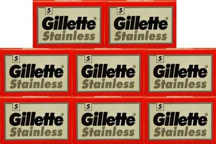 40 gillette stainless razor blades