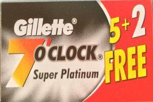 Lamette Gillette 7 OClock Super Platinum
