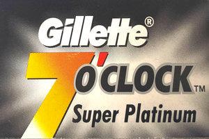 Gillette 7 o' clock Super Platinum Razor Blades