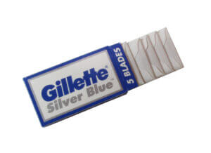 Gillette silver blue box opening box
