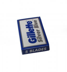 Gillette silver blue box