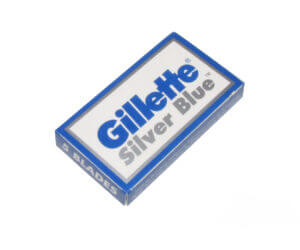 Gillette silver blue box and blades