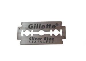Gillette silver blue blade