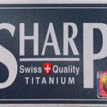 Sharp Titanium Razor Blades