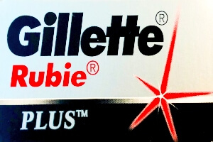 Lamette da Barba Gillette Rubie