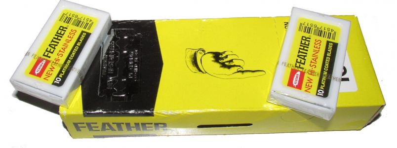 FEATHER New Hi STAINLESS double edge blades