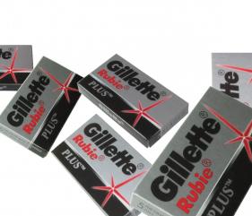 Gillette Rubie Platinum PLUS double edge razor blades